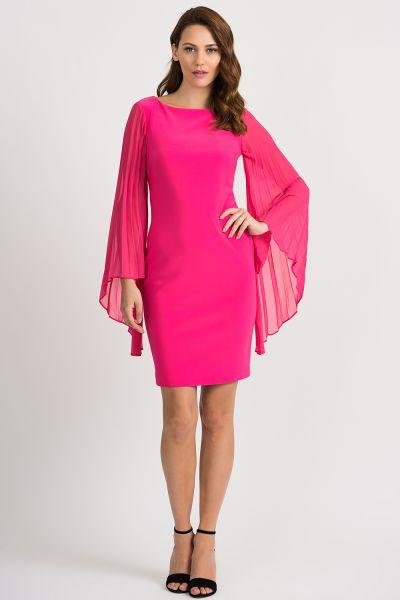 Joseph Ribkoff Hyper Pink Dress Style 201417