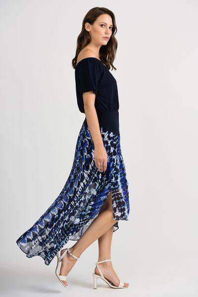 Joseph Ribkoff Blue/Black Dress Style 201443