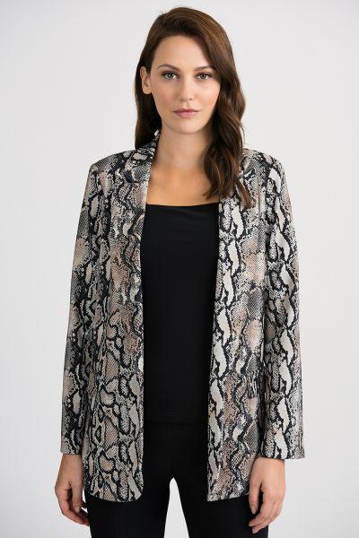 Joseph Ribkoff Beige/Black Jacket Style 201446