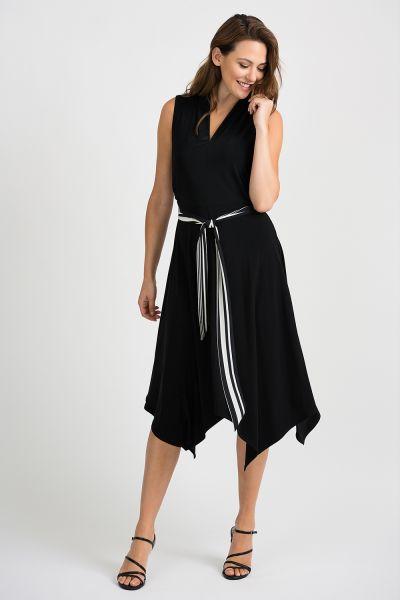 Joseph Ribkoff Black/Vanilla Dress Style 201457