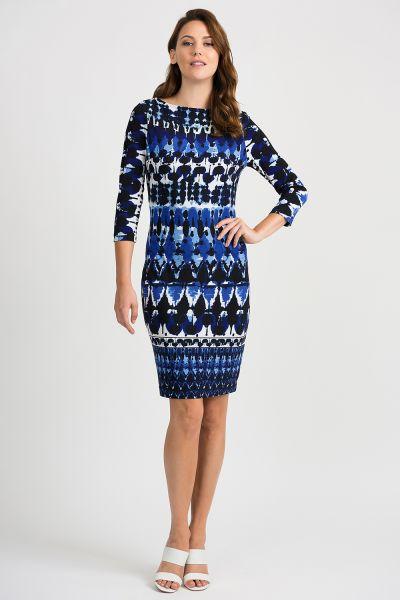 Joseph Ribkoff Blue/Black Dress Style 201473
