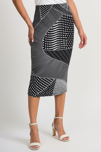 Joseph Ribkoff Black/White Skirt Style 201480