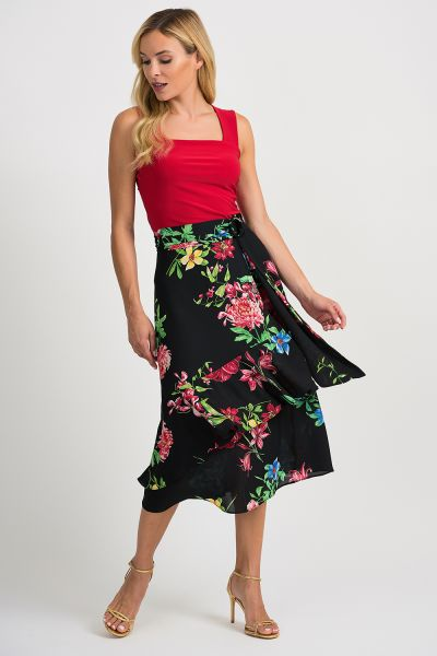 Joseph Ribkoff Black/Multi Skirt Style 201490