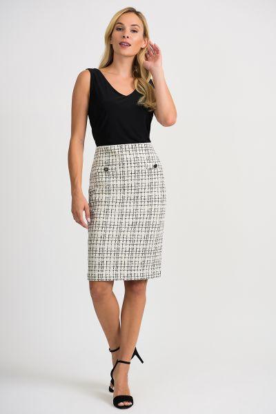 Joseph Ribkoff White/Black Skirt Style 201526