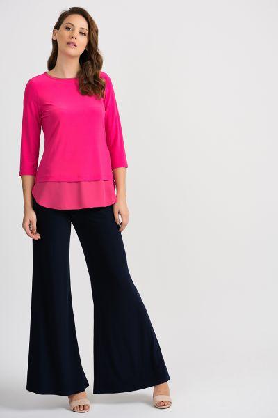 Joseph Ribkoff Hyper Pink Top Style 201534