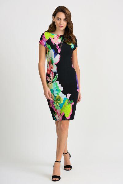 Joseph Ribkoff Black/Multi Dress Style 201635