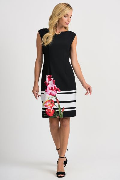Joseph Ribkoff Black/Multi Dress Style 201643
