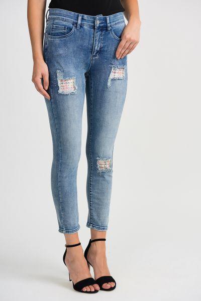 Joseph Ribkoff Denim Blue Pants Style 201993