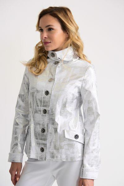 Joseph Ribkoff White/Silver Jacket Style 202049