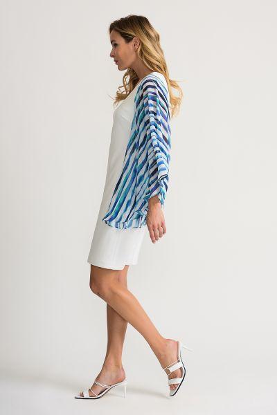 Joseph Ribkoff White/Multi Dress Style 202074