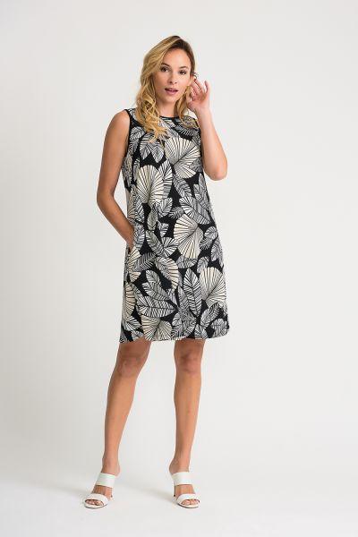 Joseph Ribkoff Black/Beige Dress Style 202075