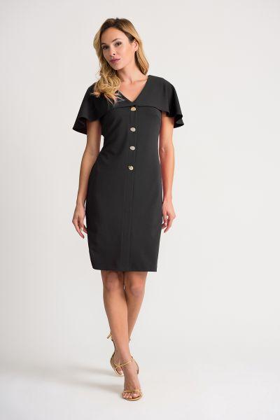 Joseph Ribkoff Black Dress Style 202077