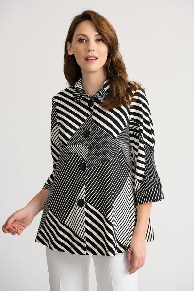 Joseph Ribkoff Black/Off White Jacket Style 202083