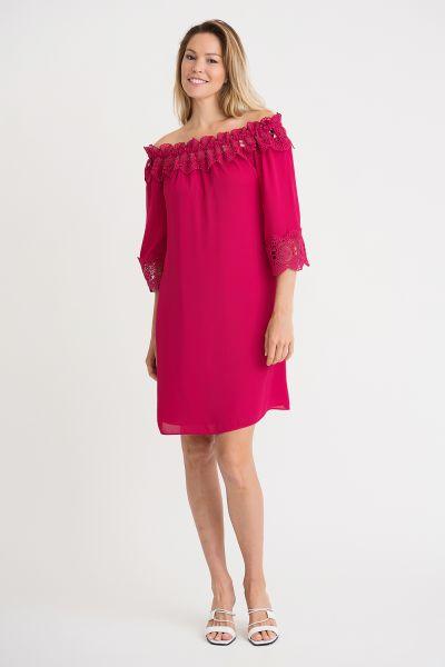 Joseph Ribkoff Cerise Dress Style 202091