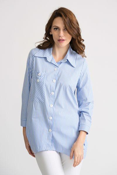 Joseph Ribkoff Blue/White Blouse Style 202096