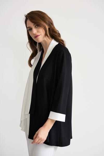 Joseph Ribkoff Black/Vanilla Jacket Style 202105