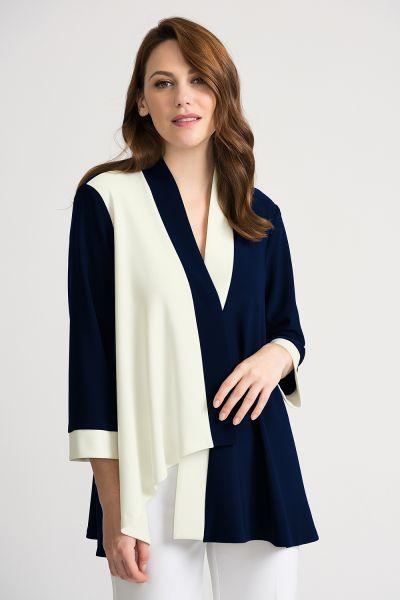 Joseph Ribkoff Midnight/Vanilla Jacket Style 202105