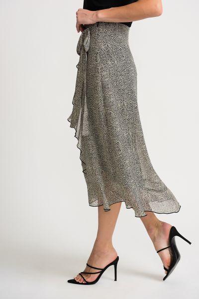Joseph Ribkoff Beige/Black Skirt Style 202108