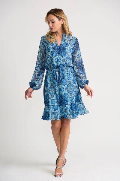 Joseph Ribkoff Blue/Multi Dress Style 202118