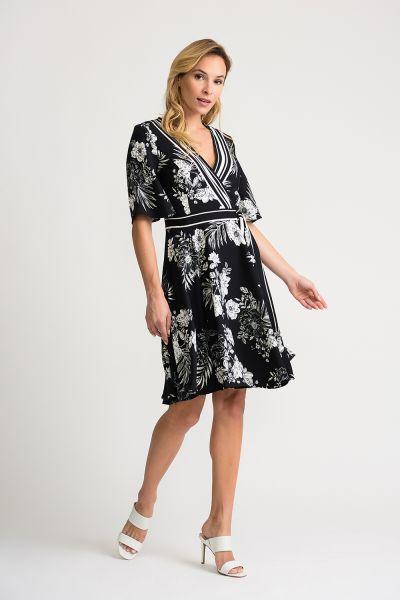 Joseph Ribkoff Black/Vanilla Dress Style 202119