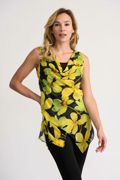 Joseph Ribkoff Black/Yellow Tunic Style 202154