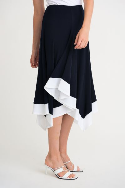 Joseph Ribkoff Midnight/Vanilla Skirt Style 202156