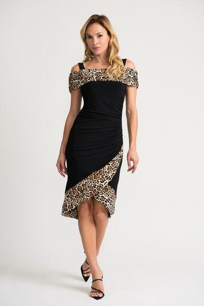 Joseph Ribkoff Black/Beige Dress Style 202161