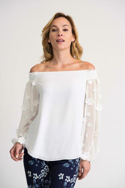 Joseph Ribkoff Off-White Top Style 202163
