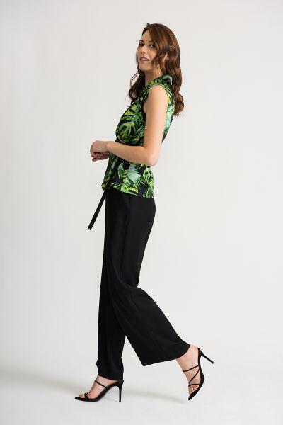Joseph Ribkoff Black/Green/Multi Jumpsuit Style 202206