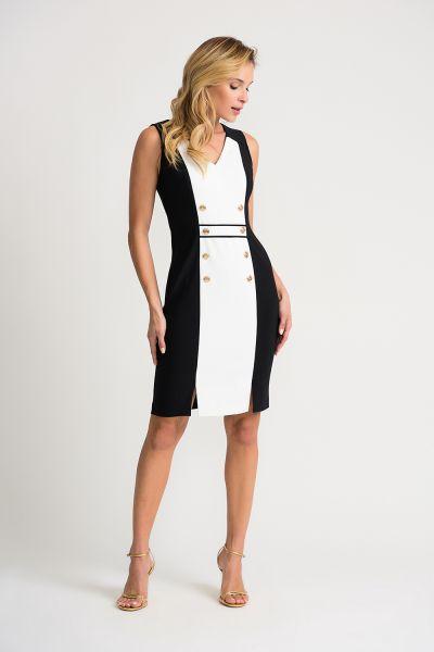 Joseph Ribkoff Black/Vanilla Dress Style 202208
