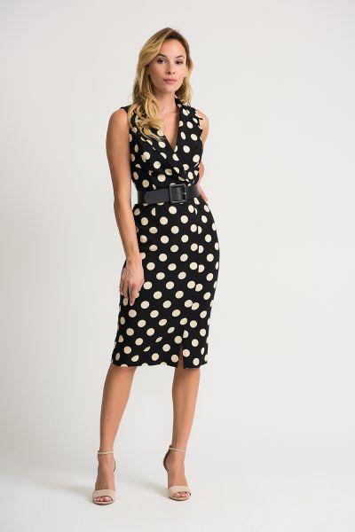 Joseph Ribkoff Black/Beige Dress Style 202209