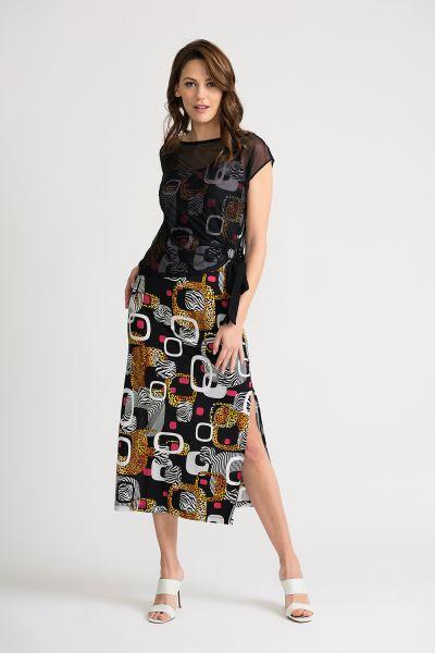 Joseph Ribkoff Black/Multi Dress Style 202212