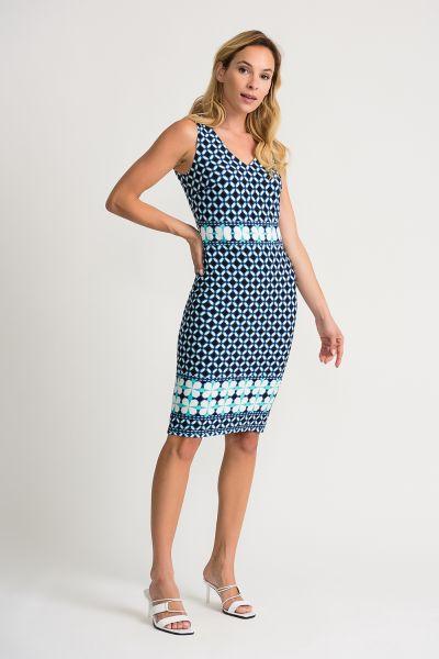 Joseph Ribkoff Blue/Multi Dress Style 202213