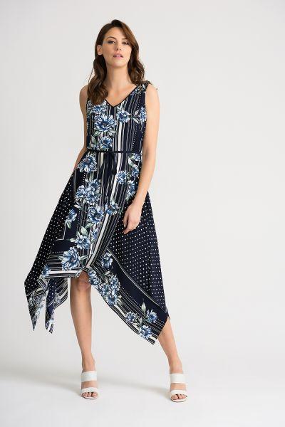 Joseph Ribkoff Midnight/Multi Dress Style 202231