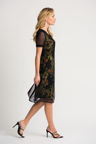 Joseph Ribkoff Black/Mutli Dress Style 202291