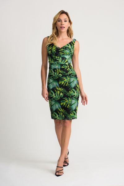 Joseph Ribkoff Black/Green/Multi Dress Style 202302