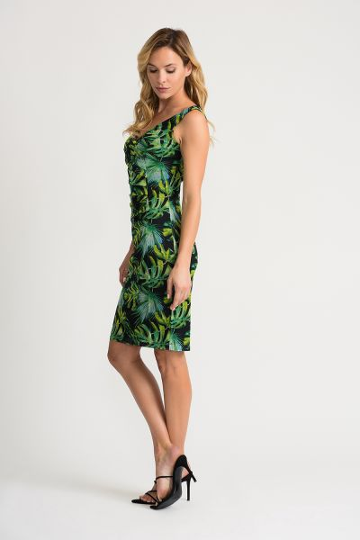 Joseph Ribkoff Black/Green/Multi Dress Style 202302