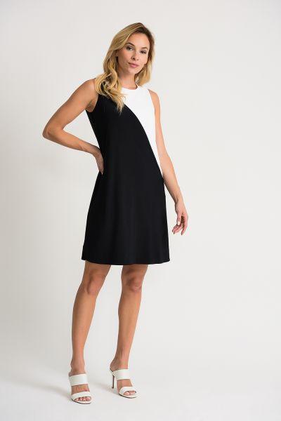 Joseph Ribkoff Black/Vanilla Dress Style 202305