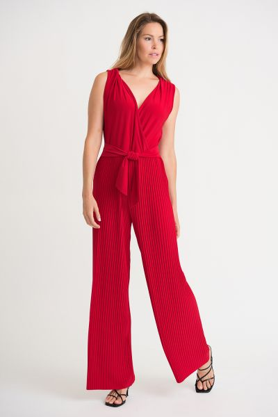Joseph Ribkoff Red Jumpsuit Style 202336