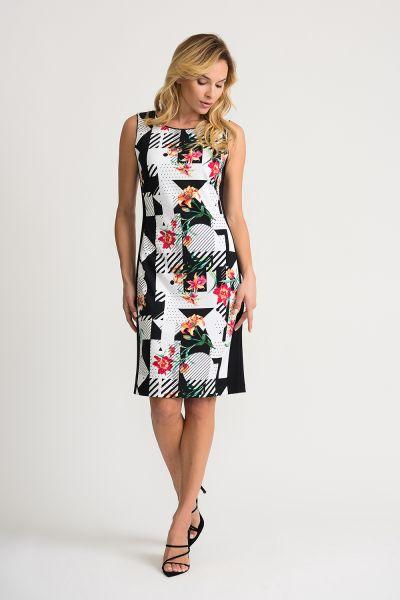 Joseph Ribkoff Vanilla/Multi Dress Style 202337