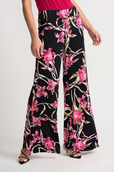 Joseph Ribkoff Black/Mutli Pants Style 202368