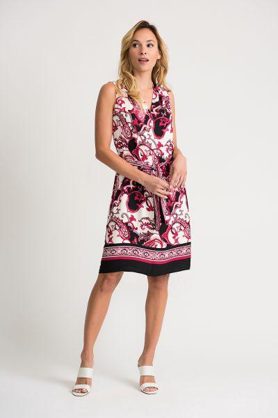 Joseph Ribkoff Vanilla/Mutli Dress Style 202377