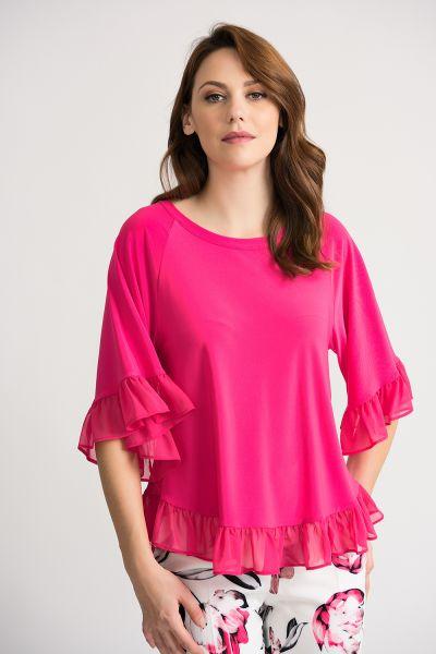 Joseph Ribkoff Hyper Pink Top Style 202380