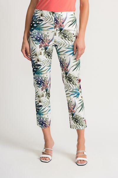 Joseph Ribkoff White/Multi Pants Style 202392
