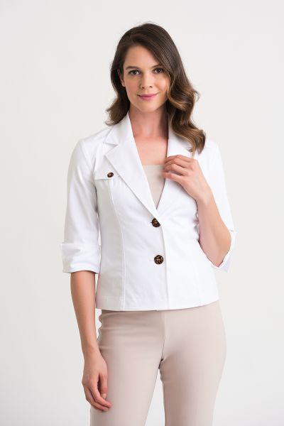 Joseph Ribkoff White Jacket Style 202439