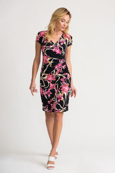 Joseph Ribkoff Black/Multi Dress Style 202450