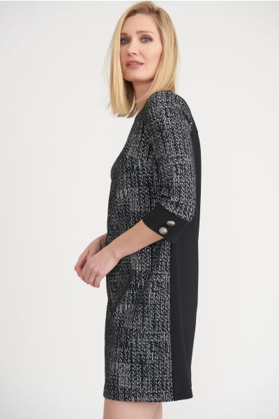 Joseph Ribkoff Black/White Dress Style 203066