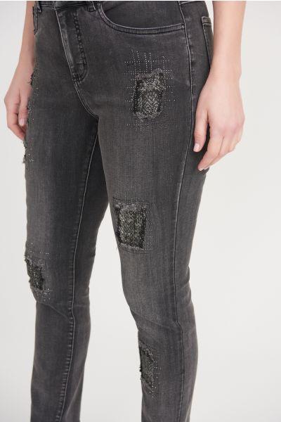 Joseph Ribkoff Grey Pants Style 203072 - front