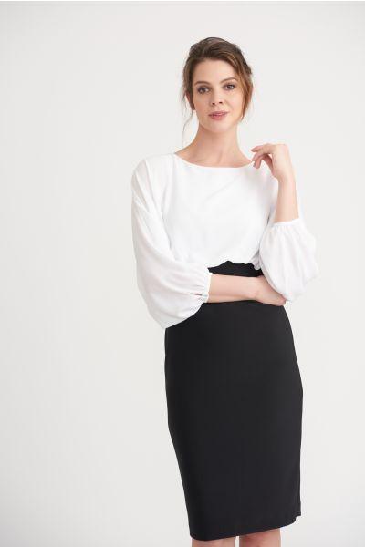 Joseph Ribkoff White/Black Dress Style 203121