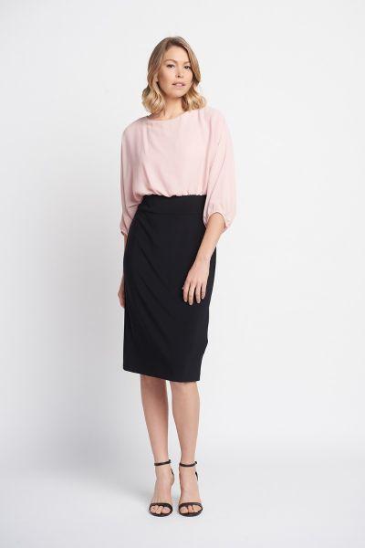 Joseph Ribkoff Black Rose Dress Style 203121